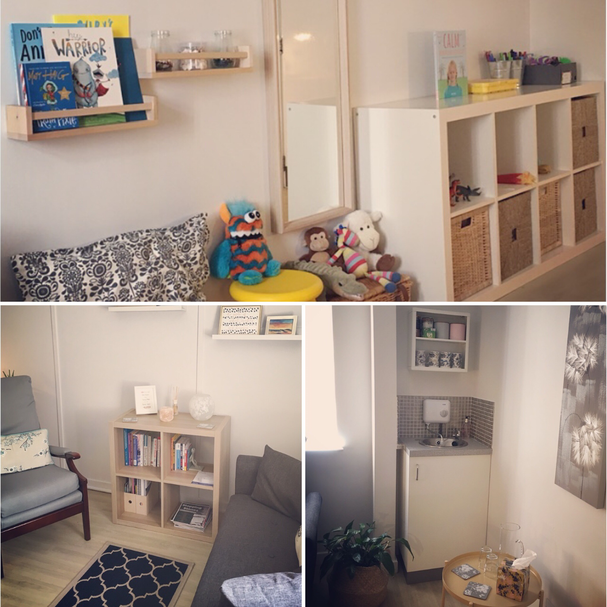 Sunrise Wellbeing - counselling therapy room